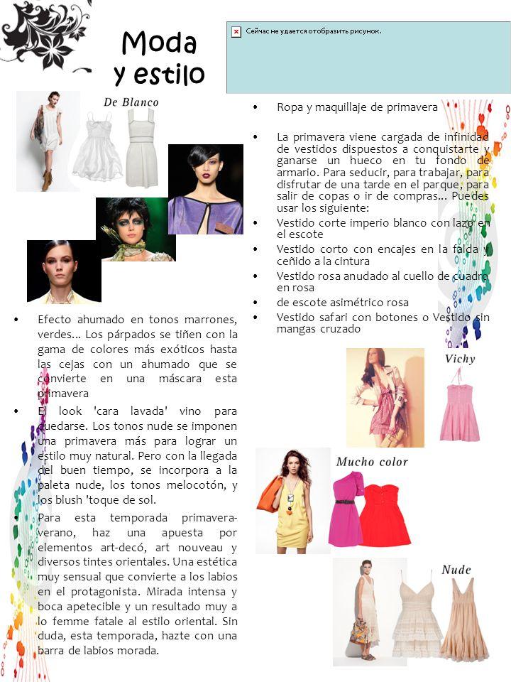Moda y estilo Ropa y maquillaje de primavera