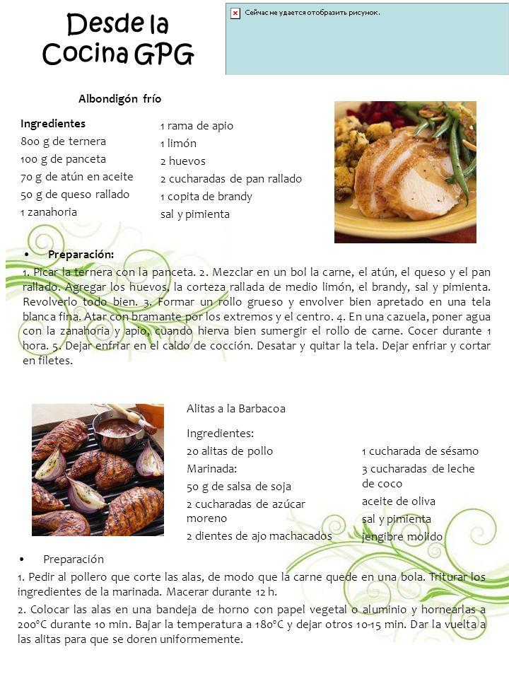 Desde la Cocina GPG Albondigón frío Ingredientes 800 g de ternera
