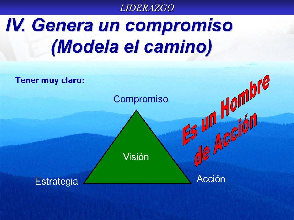 IV. Genera un compromiso (Modela el camino)