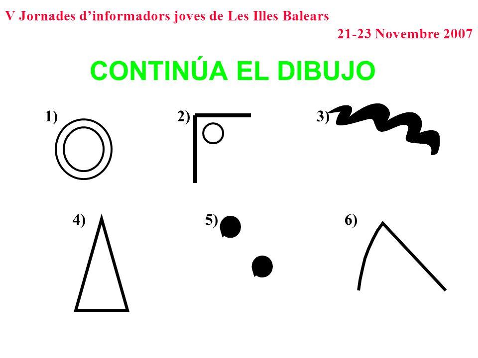 CONTINÚA EL DIBUJO 1) 2) 3) 4) 5) 6)