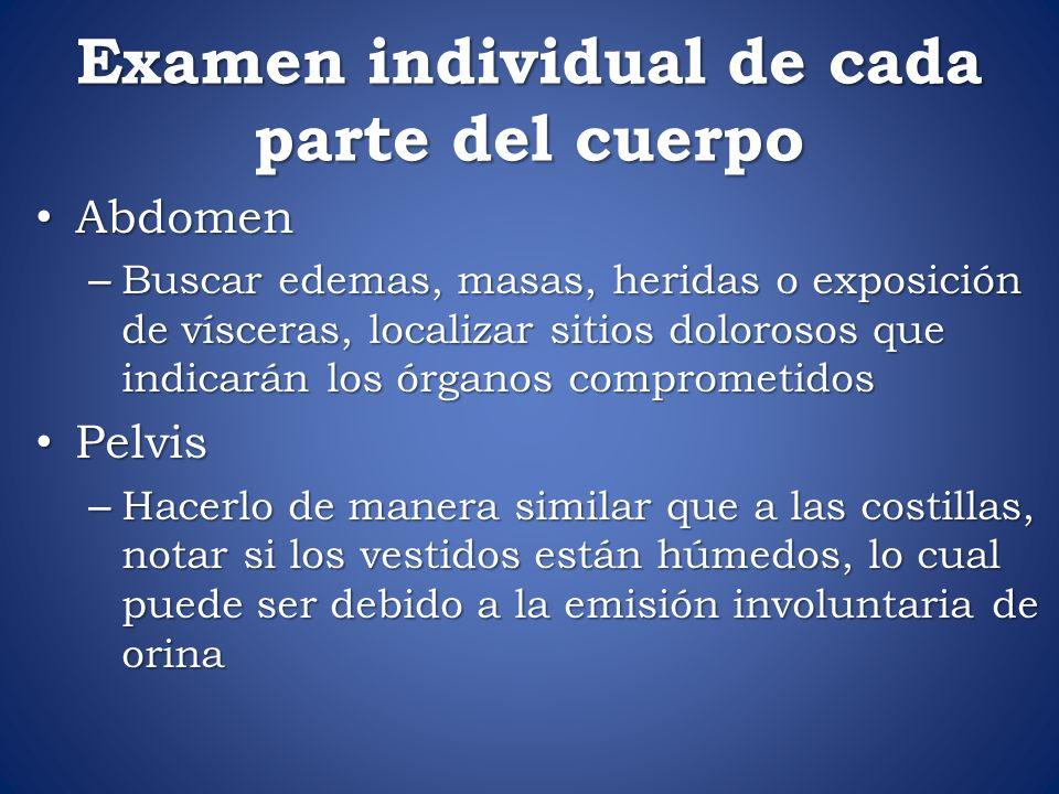 Examen individual de cada parte del cuerpo