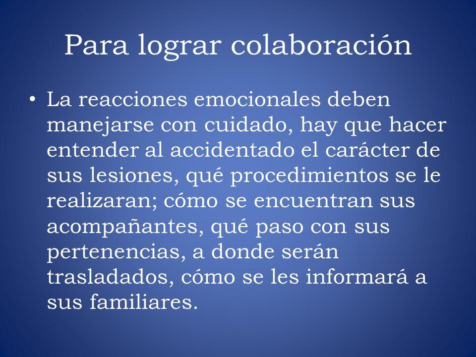 Para lograr colaboración