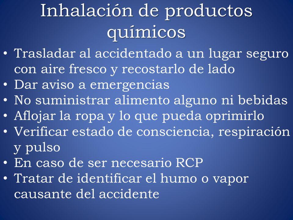 Inhalación de productos químicos