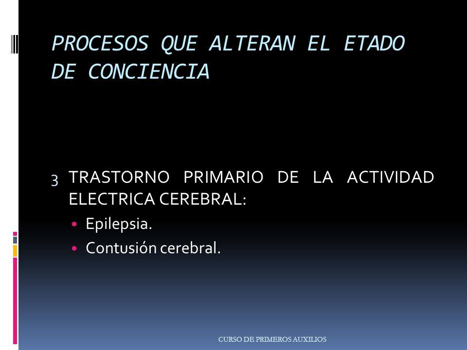PROCESOS QUE ALTERAN EL ETADO DE CONCIENCIA