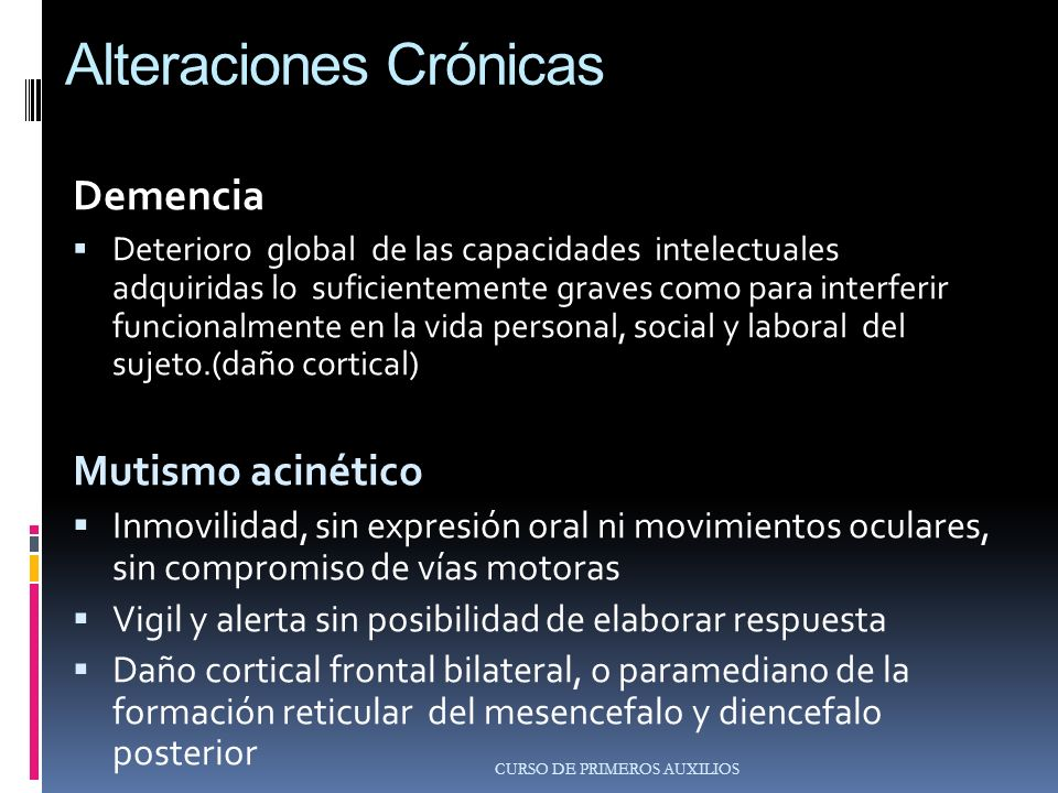Alteraciones Crónicas
