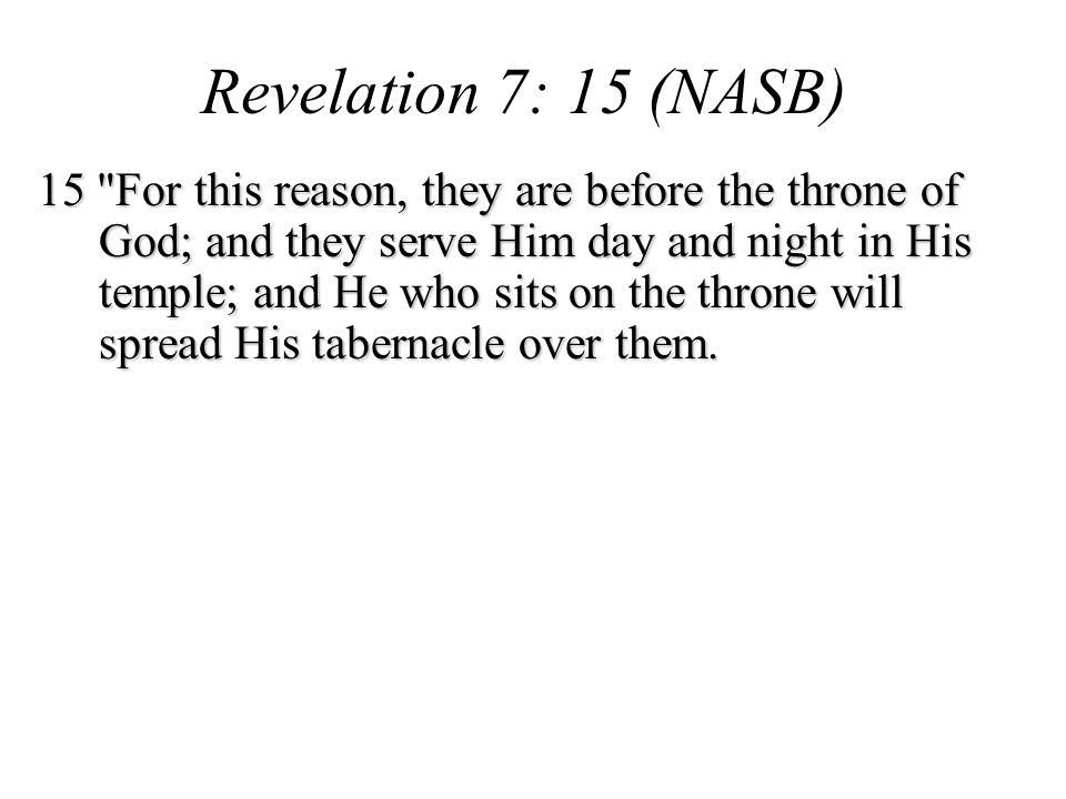 Revelation 7: 15 (NASB)