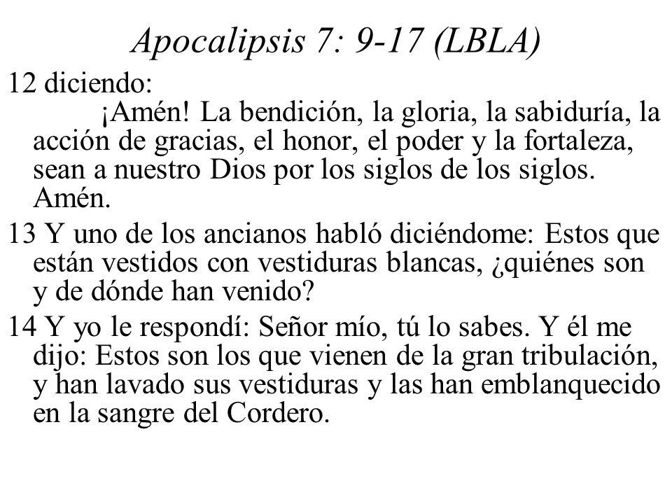 Apocalipsis 7: 9-17 (LBLA)