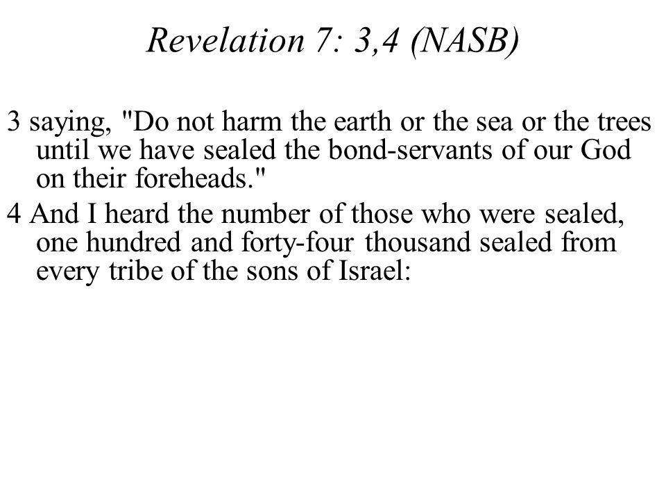 Revelation 7: 3,4 (NASB)