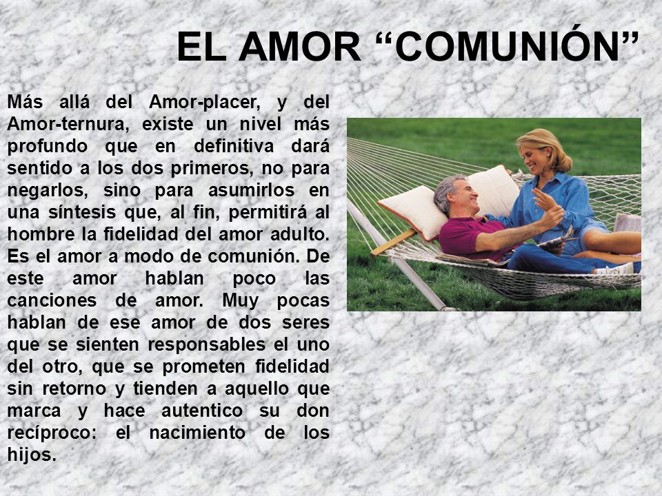 EL AMOR COMUNIÓN