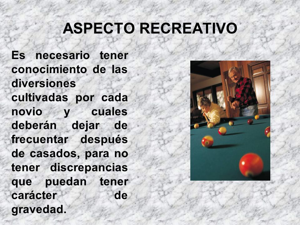 ASPECTO RECREATIVO