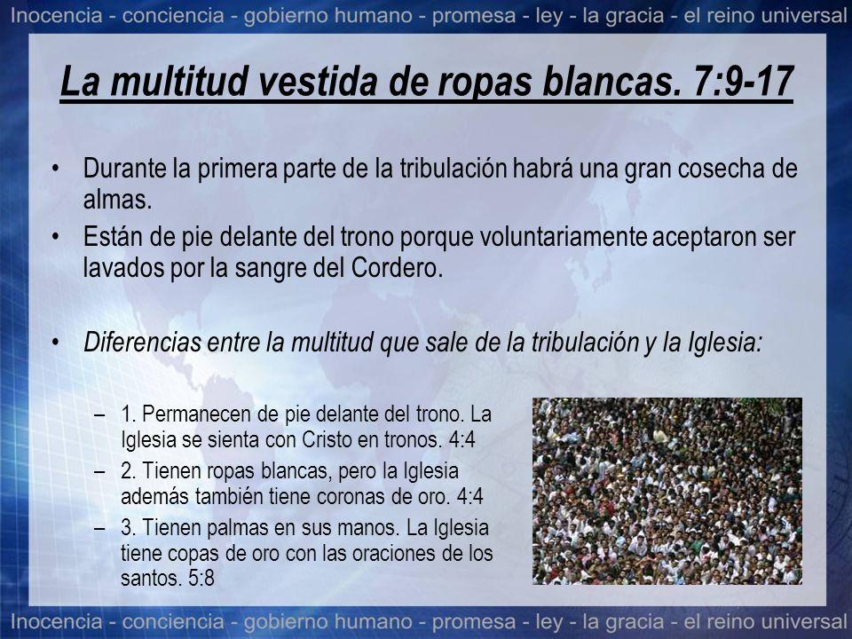 La multitud vestida de ropas blancas. 7:9-17