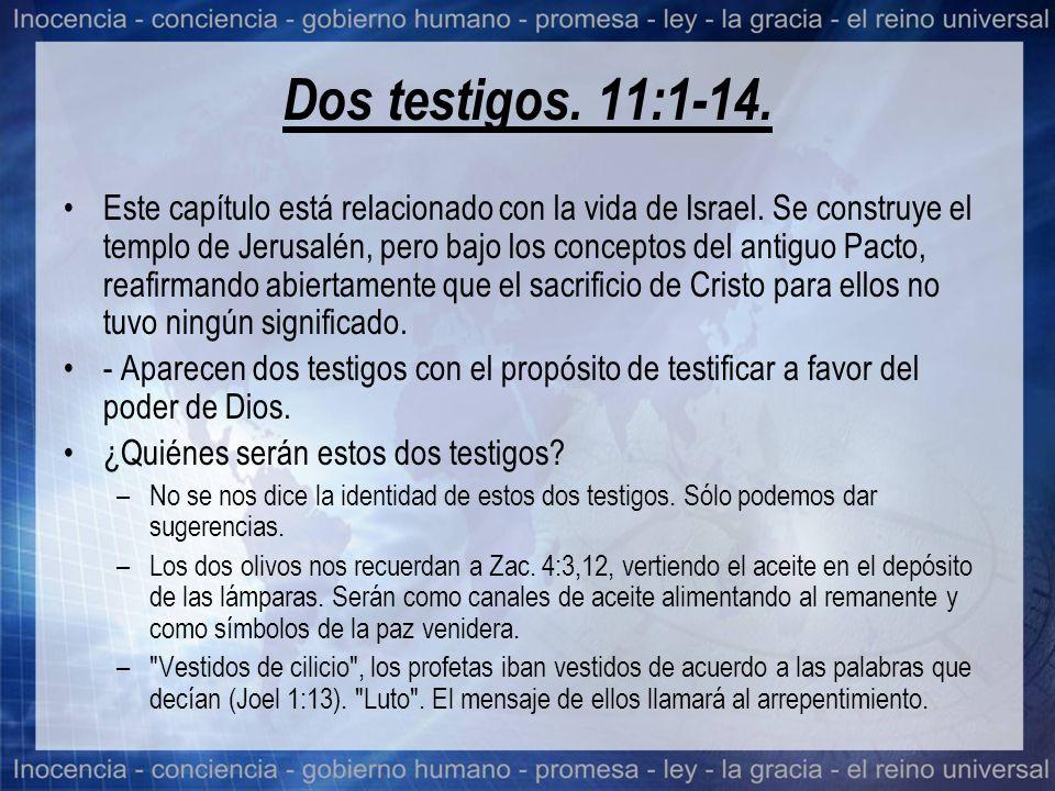 Dos testigos. 11:1-14.