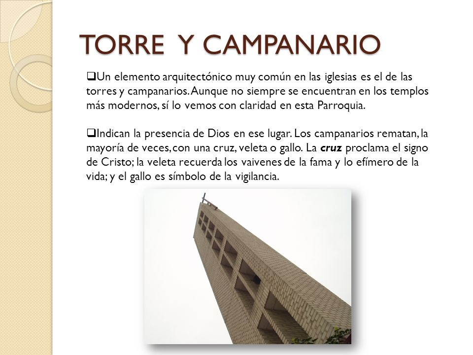 TORRE Y CAMPANARIO
