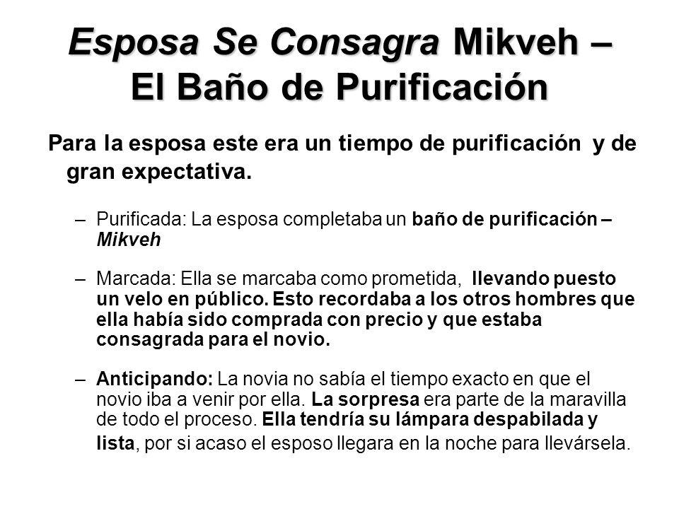 Esposa Se Consagra Mikveh – El Baño de Purificación