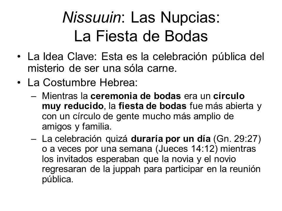Nissuuin: Las Nupcias: La Fiesta de Bodas
