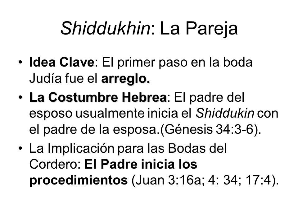 Shiddukhin: La Pareja Idea Clave: El primer paso en la boda Judía fue el arreglo.