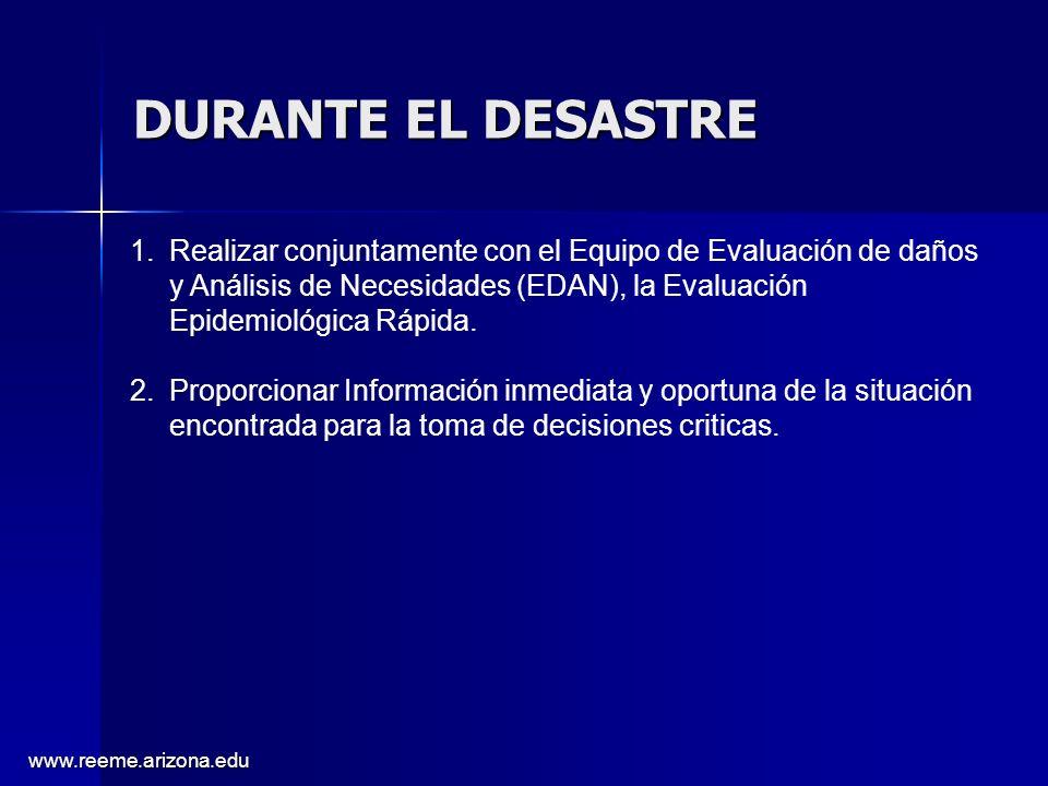 DURANTE EL DESASTRE