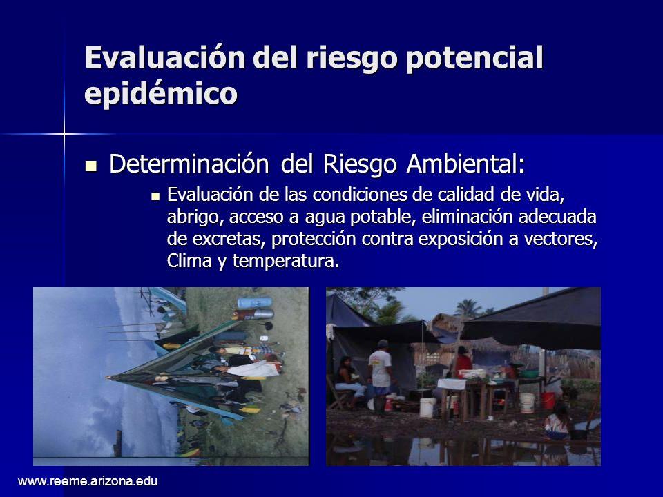Evaluación del riesgo potencial epidémico