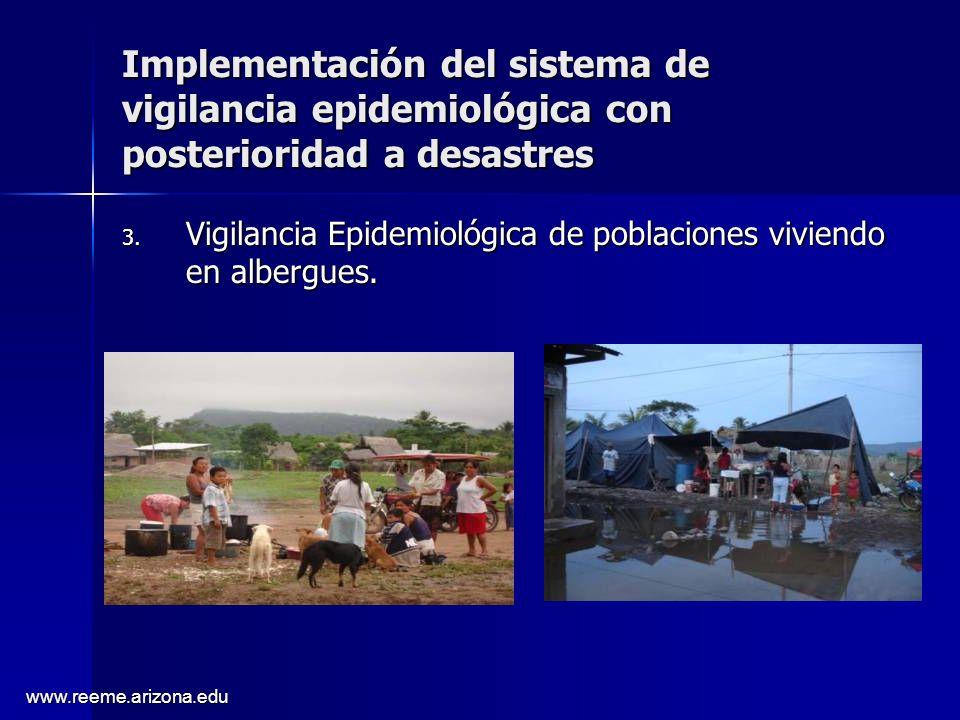 Implementación del sistema de vigilancia epidemiológica con posterioridad a desastres