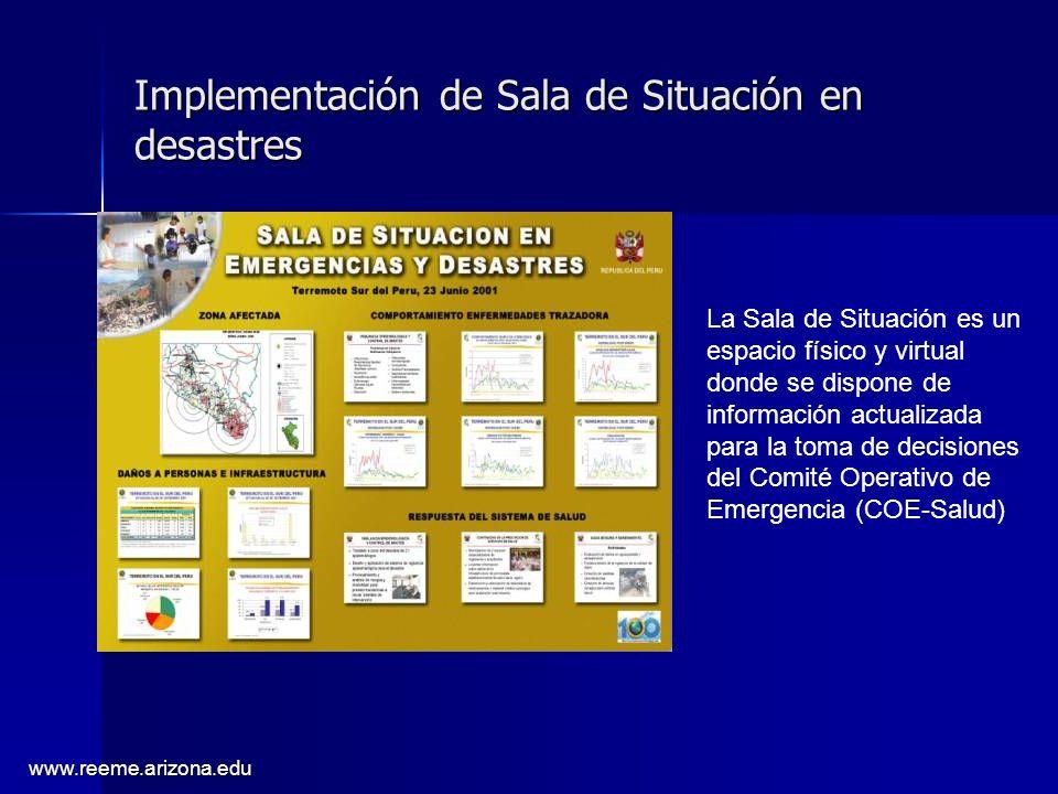 Implementación de Sala de Situación en desastres