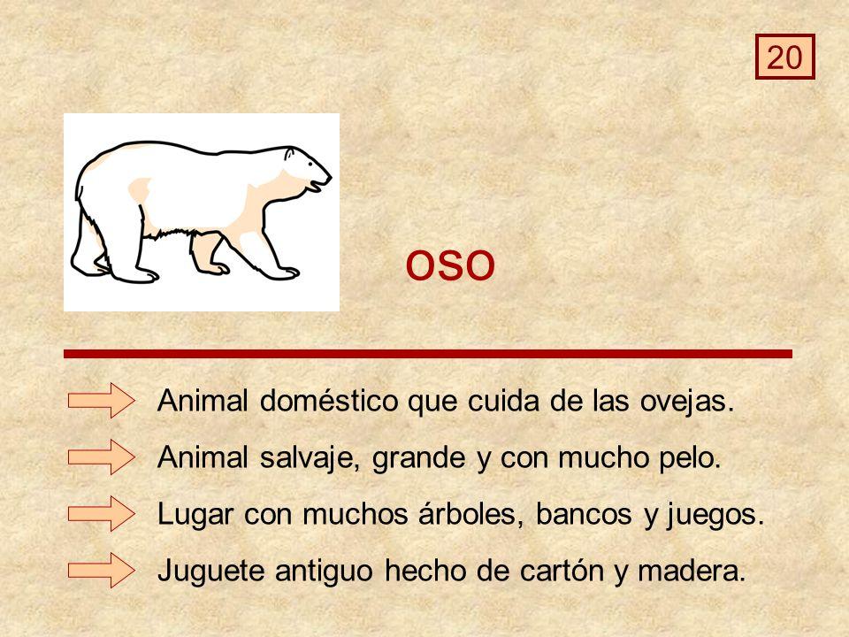 oso 20 Animal doméstico que cuida de las ovejas.