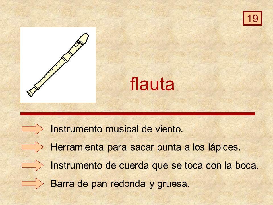flauta 19 Instrumento musical de viento.