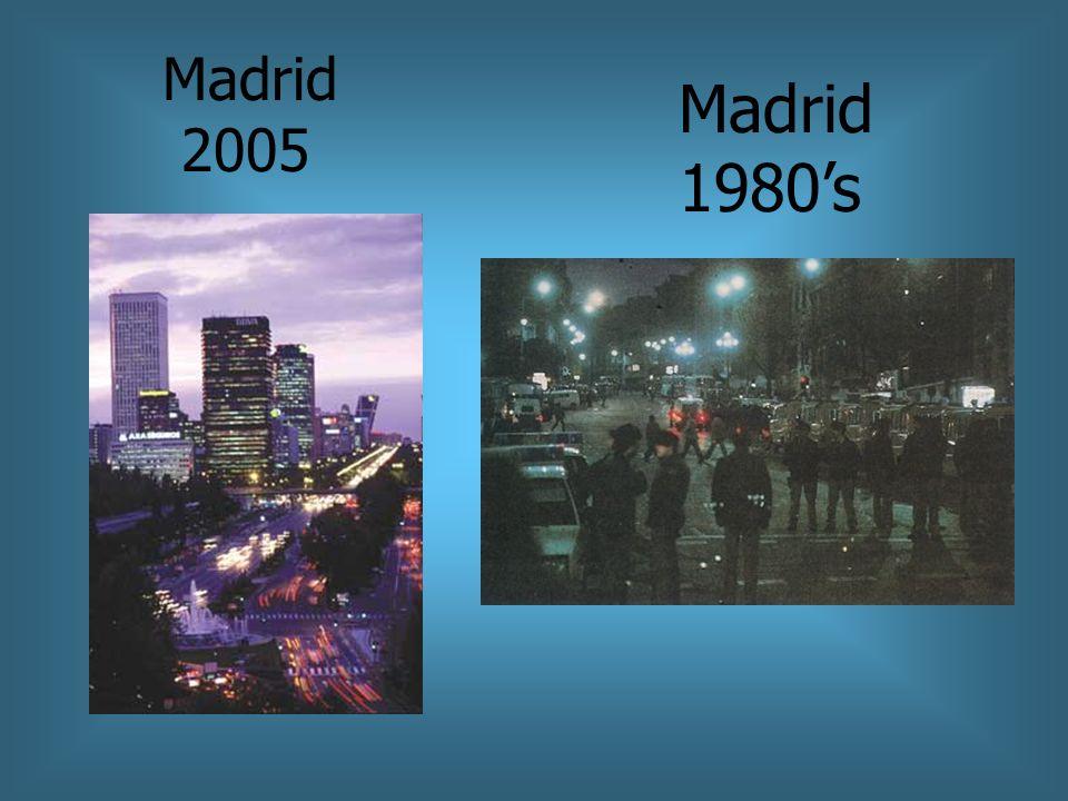 Madrid 2005 Madrid 1980's