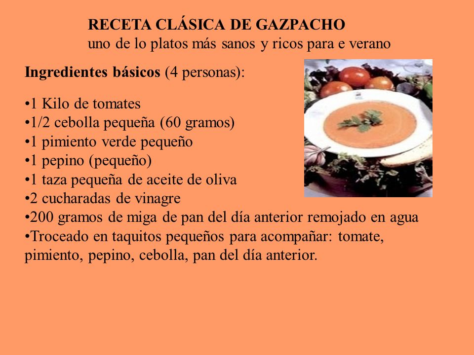 Ingredientes básicos (4 personas):