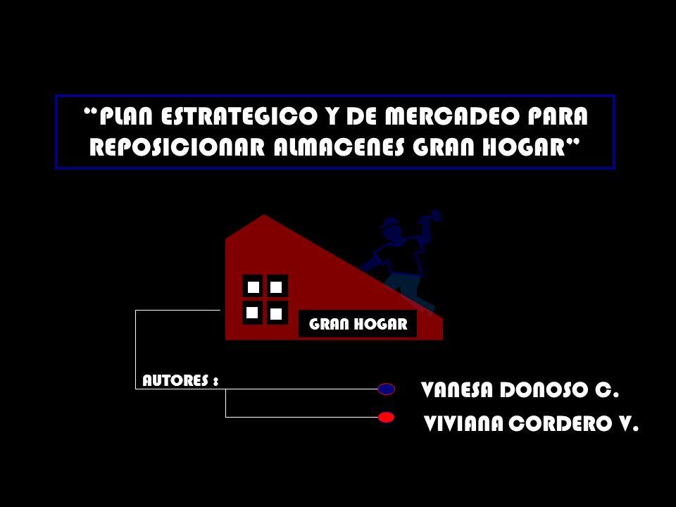 PLAN ESTRATEGICO Y DE MERCADEO PARA REPOSICIONAR ALMACENES GRAN HOGAR
