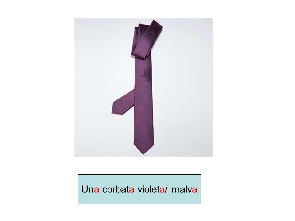 Una corbata violeta/ malva