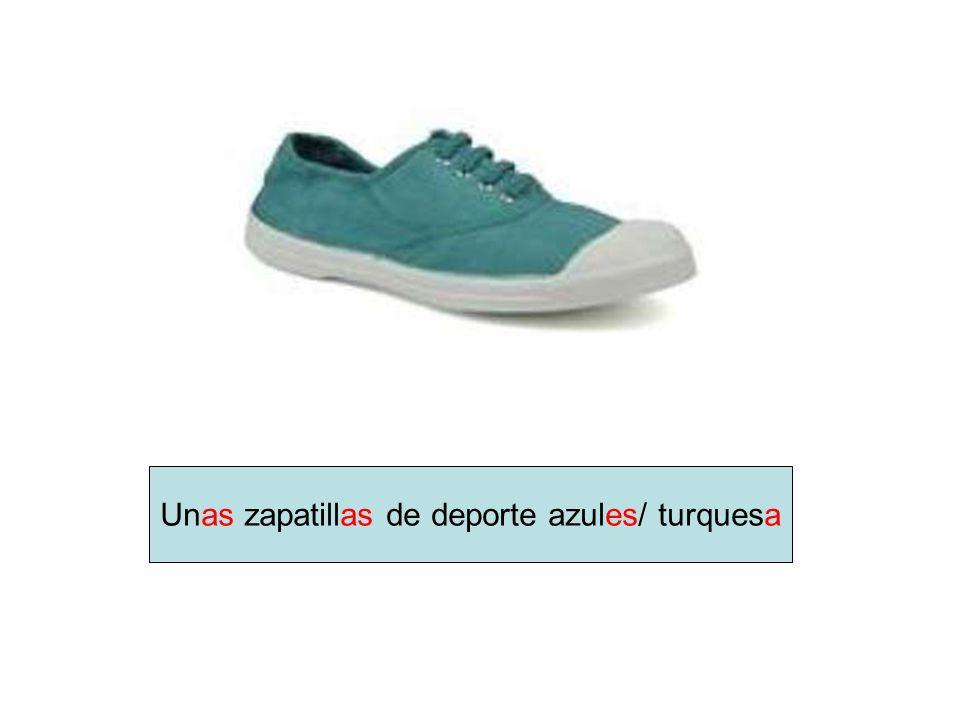 Unas zapatillas de deporte azules/ turquesa