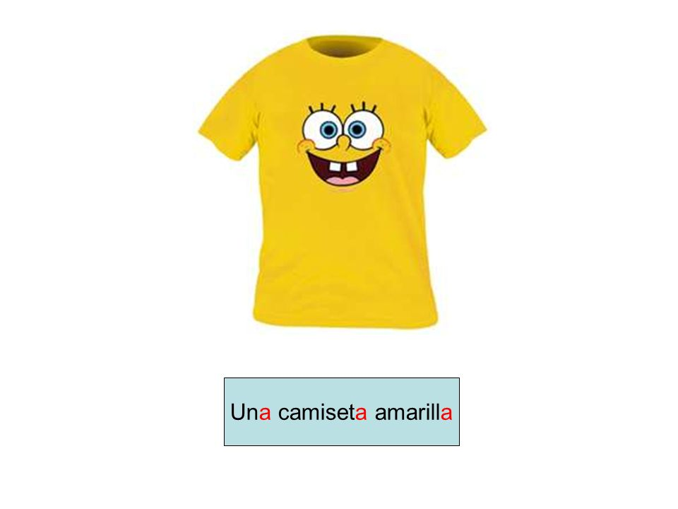 Una camiseta amarilla