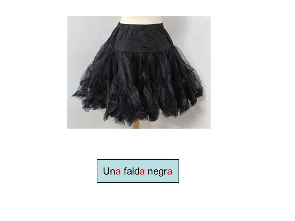 Una falda negra