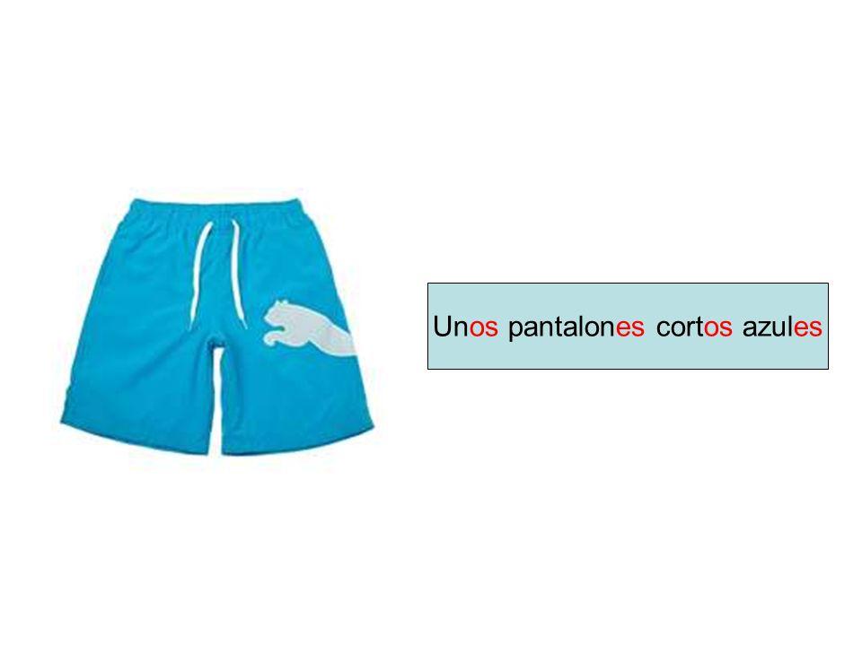 Unos pantalones cortos azules