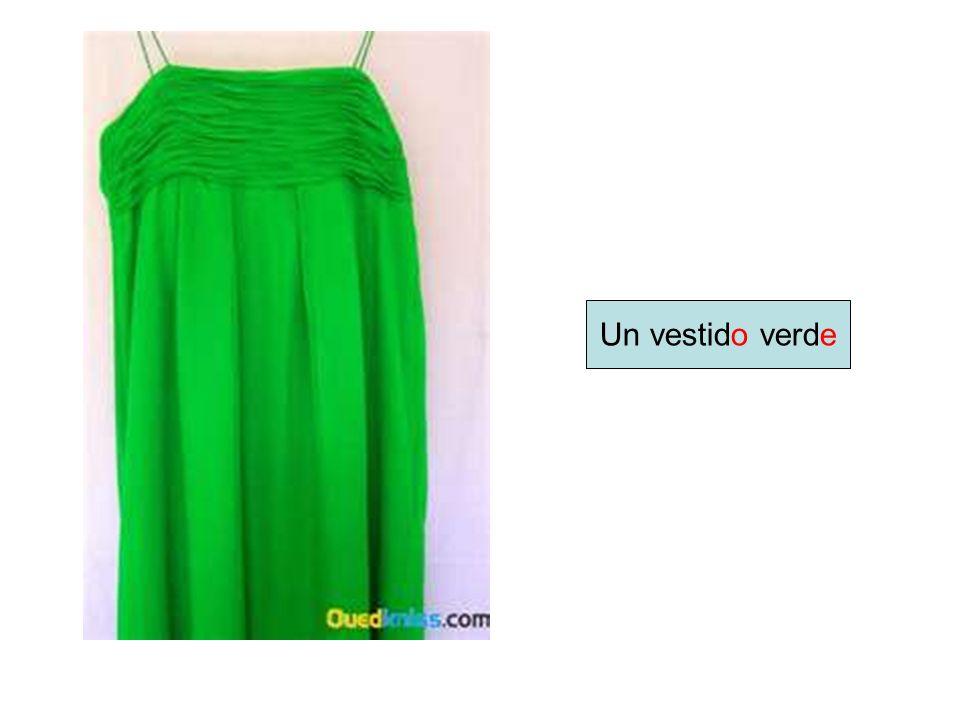 Un vestido verde