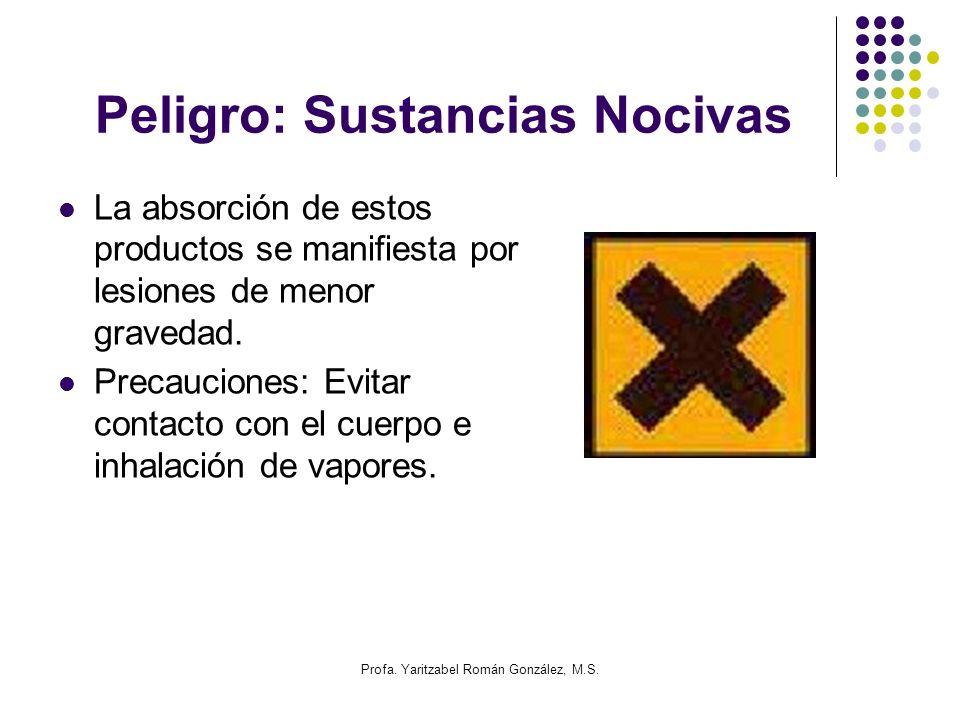 Peligro: Sustancias Nocivas