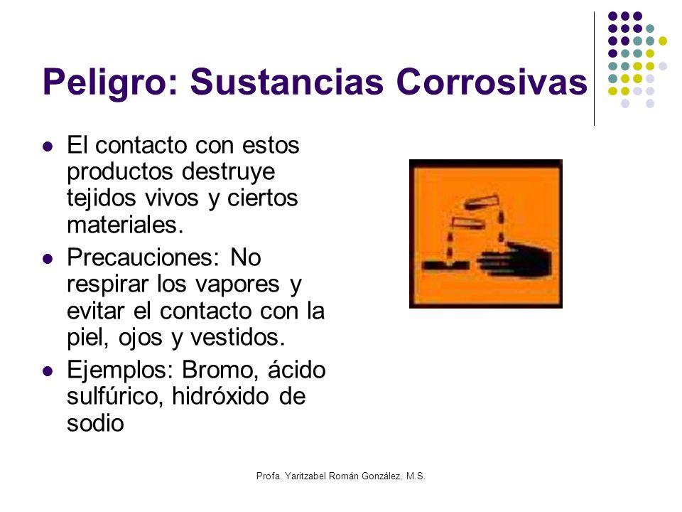 Peligro: Sustancias Corrosivas