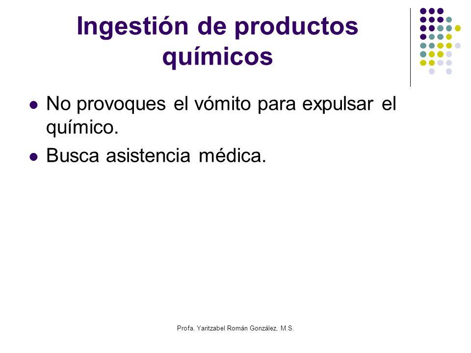 Ingestión de productos químicos