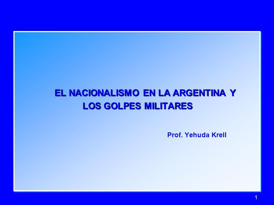 Prof. Yehuda Krell EL NACIONALISMO EN LA ARGENTINA Y