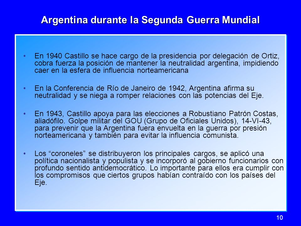 Argentina durante la Segunda Guerra Mundial