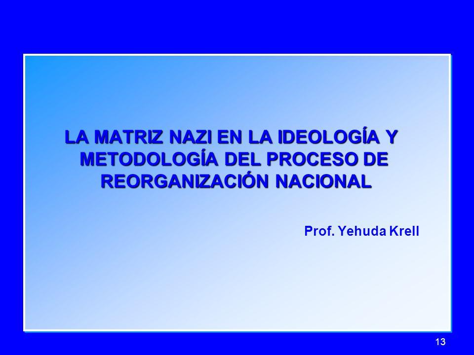 LA MATRIZ NAZI EN LA IDEOLOGÍA Y METODOLOGÍA DEL PROCESO DE
