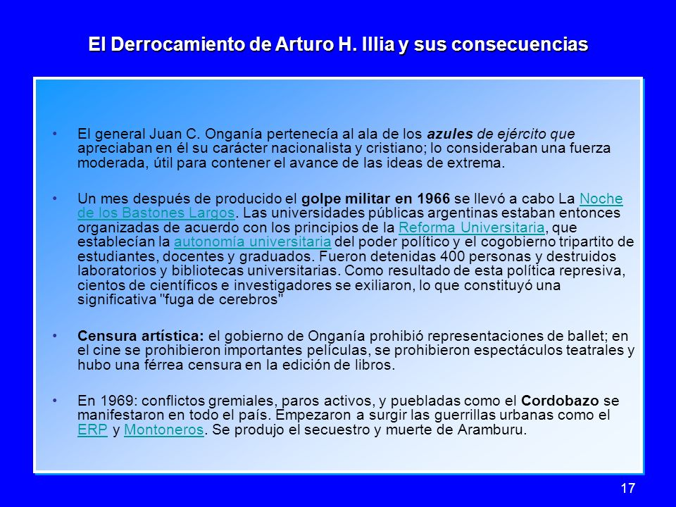 El Derrocamiento de Arturo H. Illia y sus consecuencias