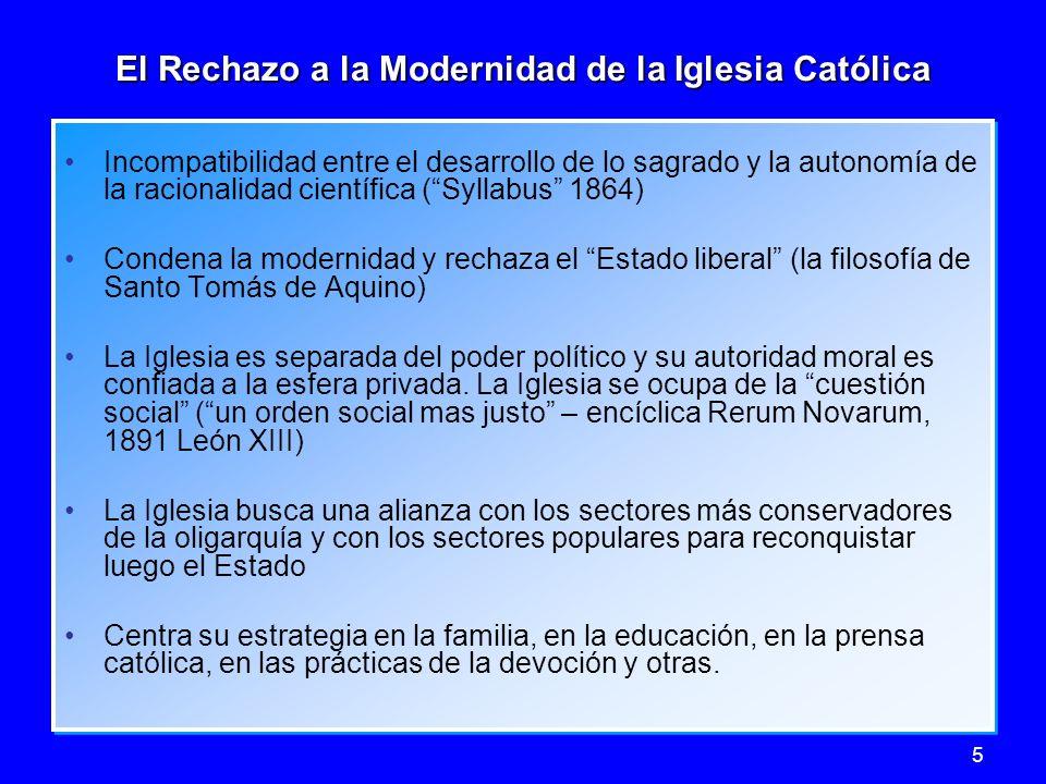El Rechazo a la Modernidad de la Iglesia Católica