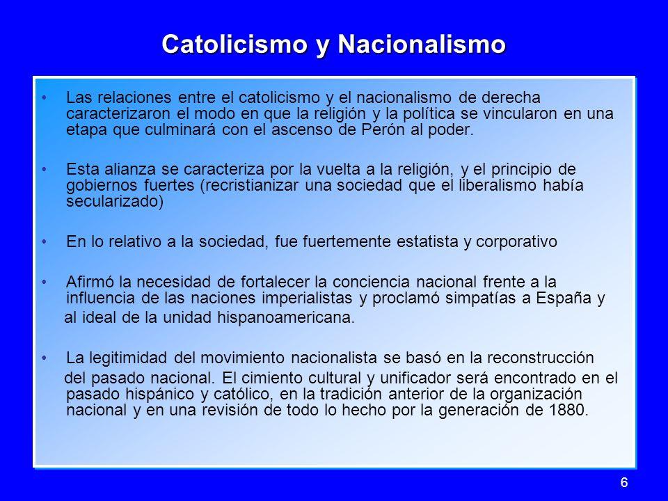 Catolicismo y Nacionalismo