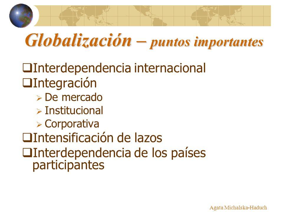 Globalización – puntos importantes