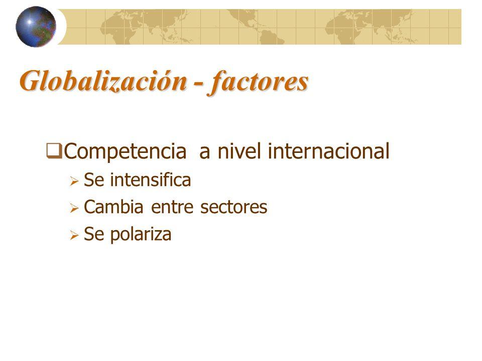 Globalización - factores