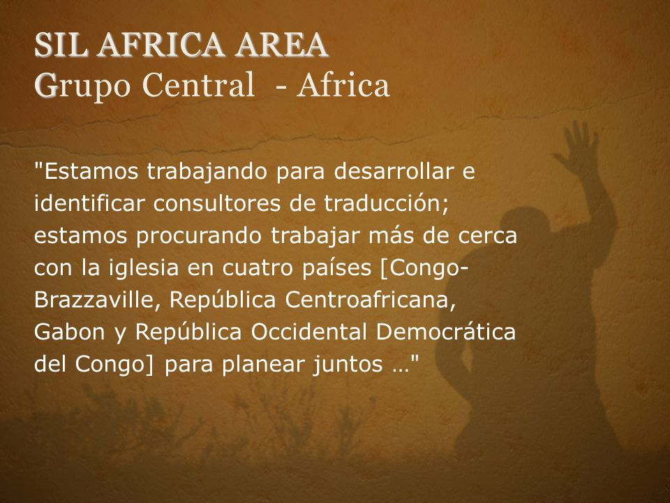 SIL AFRICA AREA Grupo Central - Africa