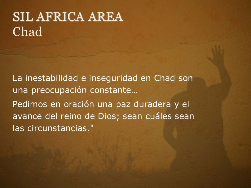 SIL AFRICA AREA Chad