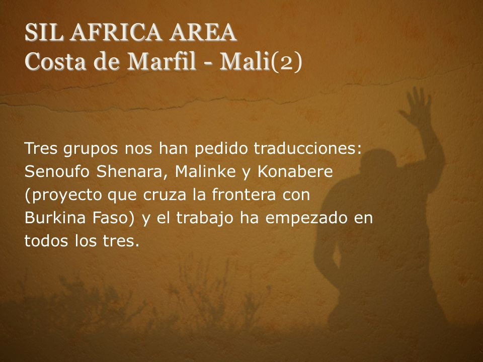 SIL AFRICA AREA Costa de Marfil - Mali(2)