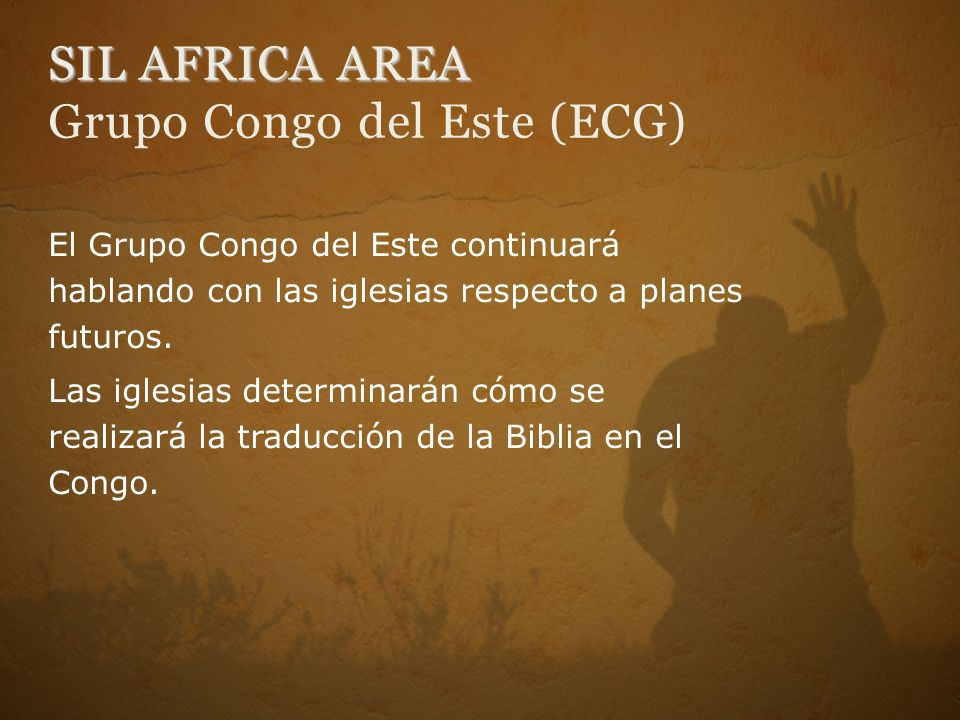 SIL AFRICA AREA Grupo Congo del Este (ECG)